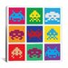 <strong>iCanvasArt</strong> Space Invaders - Pop Art Multicolor Canvas Wall Art