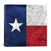 <strong>iCanvasArt</strong> Flags Texas Map with Lomo Film Grunge Graphic Art on Canvas