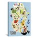 """<strong>""""Treasure Map"""" Canvas Wall Art by Erin Clark</strong> by iCanvasArt"""