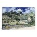 <strong>iCanvasArt</strong> 'Thatched Cottages at Cordeville' by Vincent Van Gogh Painting Print on Canvas