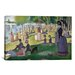 iCanvasArt 'Sunday Afternoon on the Island of La Grande Jatte' by Georges Seurat Painting Print on Canvas