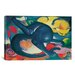 iCanvasArt 'Two Cats (Blue and Yellow)' by Franz Marc Painting Print on Canvas