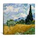 "iCanvasArt ""Wheatfield with Cypresses"" Canvas Wall Art by Vincent Van Gogh"