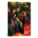 iCanvasArt 'Sunny Way' by August Macke Painting Print on Canvas