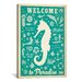 iCanvasArt 'Welcome to Paradise' by Anderson Design Vintage Advertisment on Canvas