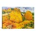 iCanvasArt 'Wheat Stacks in Provence' by Vincent Van Gogh Painting Print on Canvas