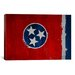 <strong>Flags Tennessee Wood Planks with Splatters Graphic Art on Canvas</strong> by iCanvasArt