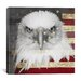 <strong>iCanvasArt</strong> Bald American Eagle Graphic Art on Canvas in Black / Red