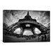 <strong>iCanvasArt</strong> Eiffel Apocalypse by Sebastien Lory Photographic Print on Canvas in Black / White