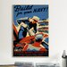 <strong>Build for Your Navy! Recruiting Vintage Advertisement on Canvas</strong> by iCanvasArt