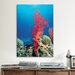 iCanvasArt Marine and Ocean Red Coral Photographic Print on Canvas