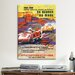 <strong>iCanvasArt</strong> Porsche 356 and Spyder Le Mans Racing Vintage Advertisement on Canvas