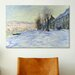 iCanvasArt 'Lavacourt Sunshine and Snow' by Claude Monet Painting Print on Canvas
