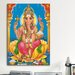 <strong>iCanvasArt</strong> Religion and Spirituality Ganesha Hindu God Painting Print on Canvas