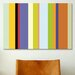 <strong>iCanvasArt</strong> Striped Art For the Love of Color Graphic Art on Canvas