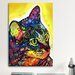 <strong>iCanvasArt</strong> 'Confident Cat' by Dean Russo Graphic Art on Canvas