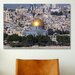 <strong>iCanvasArt</strong> Islamic Dome of the Rock on Temple Mountain, Jerusalem Photographic Print on Canvas