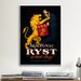 <strong>iCanvasArt</strong> Armagnac Ryst Lion Vintage Advertisement on Canvas