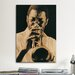 <strong>iCanvasArt</strong> Jazz Trumpet Player Vintage Photographic Print on Canvas