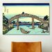 <strong>'Fuji Seen Through The Mannen Bridge at Fukagawa' by Katsushika Hok...</strong> by iCanvasArt