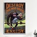 <strong>iCanvasArt</strong> Destroy This Mad Brute (Enlist U.S. Army) Vintage Advertisement on Canvas