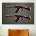 <strong>'AK47 Assault Rifle' by Michael Tompsett Painting Print on Canvas</strong> by iCanvasArt