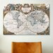<strong>iCanvasArt</strong> Antique Double Hemisphere Map of The World Graphic Art on Canvas