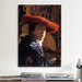 <strong>'Girl with a Red Hat' by Johannes Vermeer Painting Print on Canvas</strong> by iCanvasArt