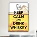 <strong>iCanvasArt</strong> Keep Calm and Drink Whiskey Textual Art on Canvas