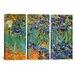 iCanvasArt Vincent van Gogh Irises 3 Piece on Canvas Set
