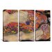 <strong>Gustav Klimt Water Serpents II 3 Piece on Canvas Set</strong> by iCanvasArt