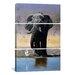 iCanvasArt Decorative Art Elephant Egret and Carmines Pip McGarry 3 Piece on Canvas Set