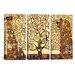iCanvasArt Gustav Klimt The Tree of Life 3 Piece on Canvas Set