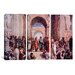 <strong>Raphael School of Athens 3 Piece on Canvas Set</strong> by iCanvasArt