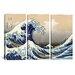 <strong>iCanvasArt</strong> Katsushika Hokusai The Great Wave at Kanagawa 3 Piece on Canvas Set