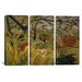 iCanvasArt Henri Rousseau Tiger in a Tropical Storm (Surprised) 3 Piece on Canvas Set