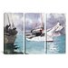 <strong>iCanvasArt</strong> Winslow Homer Fishing Boats and Key West 3 Piece on Canvas Set