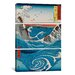 iCanvasArt Katsushika Hokusai The Crashing Waves 3 Piece on Canvas Set