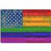 <strong>iCanvasArt</strong> American Rainbow Flag, Gay Lesbian Rights Graphic Art on Canvas