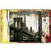 """Pont Brooklyn Pancarte (Brooklyn Bridge)"" Canvas Wall Art by Luz Graphics"
