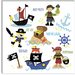 """Pirates and Ships"" Canvas Wall Art by Erin Clark"
