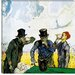 """The Drinkers (after Daumier)"" Canvas Wall Art by Vincent Van Gogh"