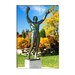 Statue of Rocky Balboa in a Park, Philadelphia Museum of Art, Benjamin Franklin Parkway Canvas Wall Art