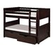 Camaflexi Low Bunk Bed with Drawers and Panel Headboard