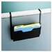 Dr. Pocket Steel Add-On/Single Pocket Wall File, Letter, Black