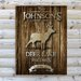 <strong>Personalized Gift Cabin Textual Art on Canvas</strong> by JDS Personalized Gifts