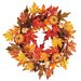 <strong>Oddity Inc.</strong> Maple Leaf Pumpkin Berry Wreath