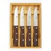 <strong>4-Piece Steakhouse Steak Knife Set with Wood Box</strong> by Zwilling JA Henckels