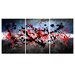<strong>'Beautiful Mind' Abstract 3 Piece Painting Print on Wrapped Canvas Set</strong> by Maxwell Dickson