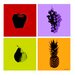 <strong>'Fruits' 4 Piece Graphic Art on Wrapped Canvas Set</strong> by Maxwell Dickson